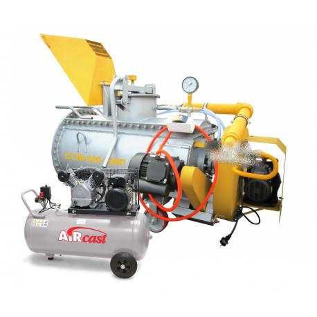Производство пенобетона, мини-завод ССМ-250-15МК с компрессором