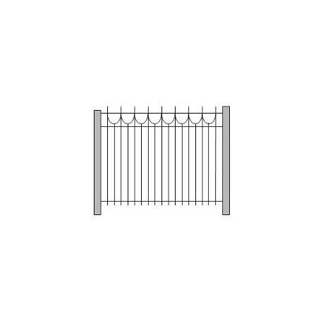 Забор и ограждения из металла для разделения территории, газона